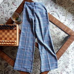 Vintage wool blend flared trousers